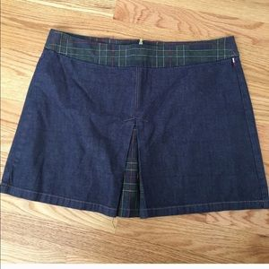 Vintage 90s Tommy Hilfiger Plaid Denim Skirt 629